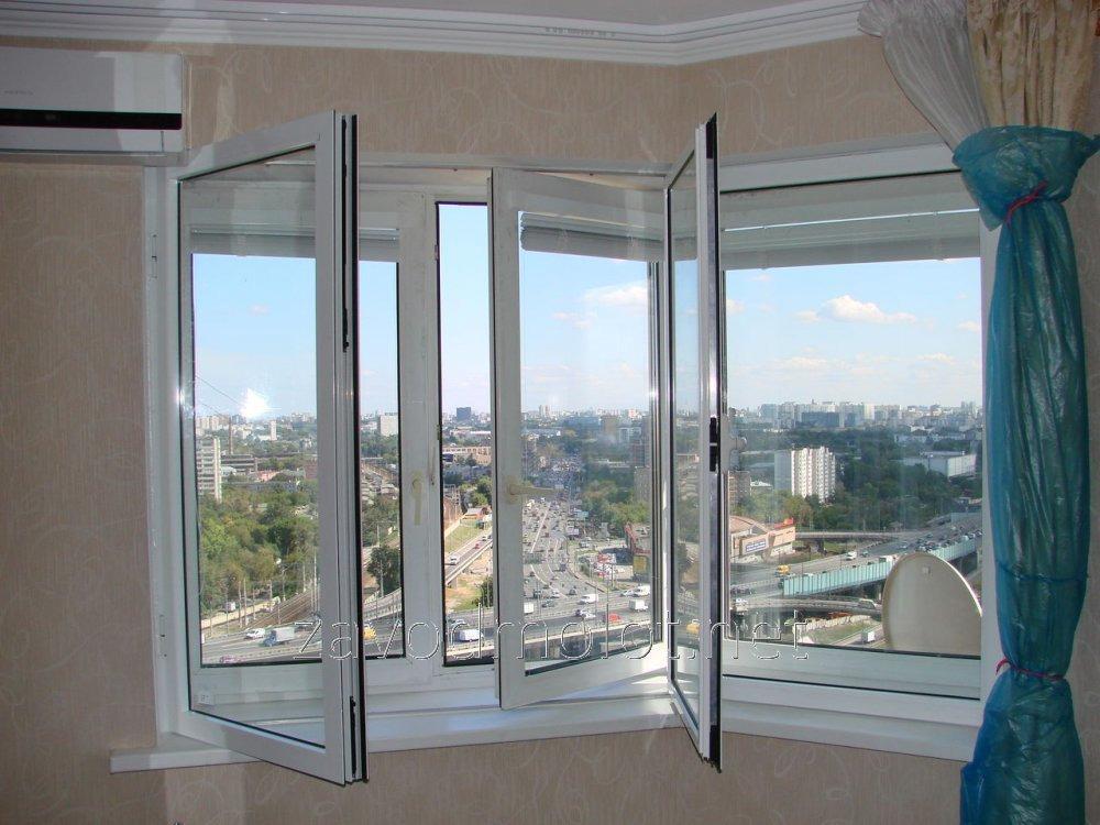 Окно вертикальное распашное