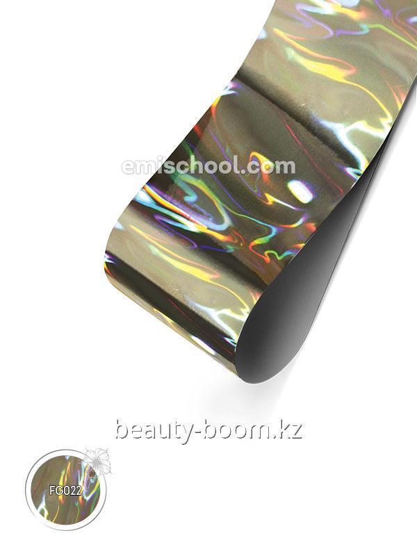Купить Фольга голографическая Серебряная №04 Пламя 1,5м
