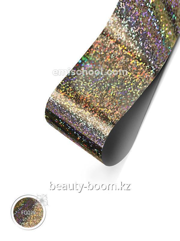 Купить Фольга голографическая Серебряная №09 Мелкие кристаллы 1,5м
