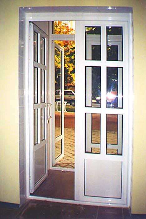 дверь входная двойная пвх