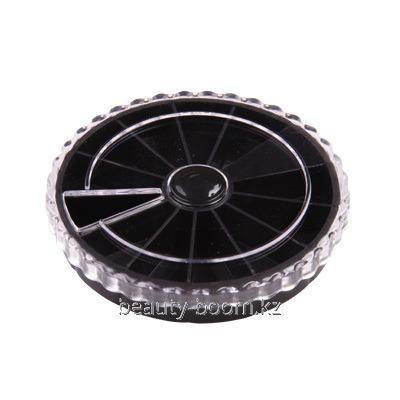 Купить Каруселька для украшений, диаметр 6,3, черная, 12 ячеек, Артикул У140-02