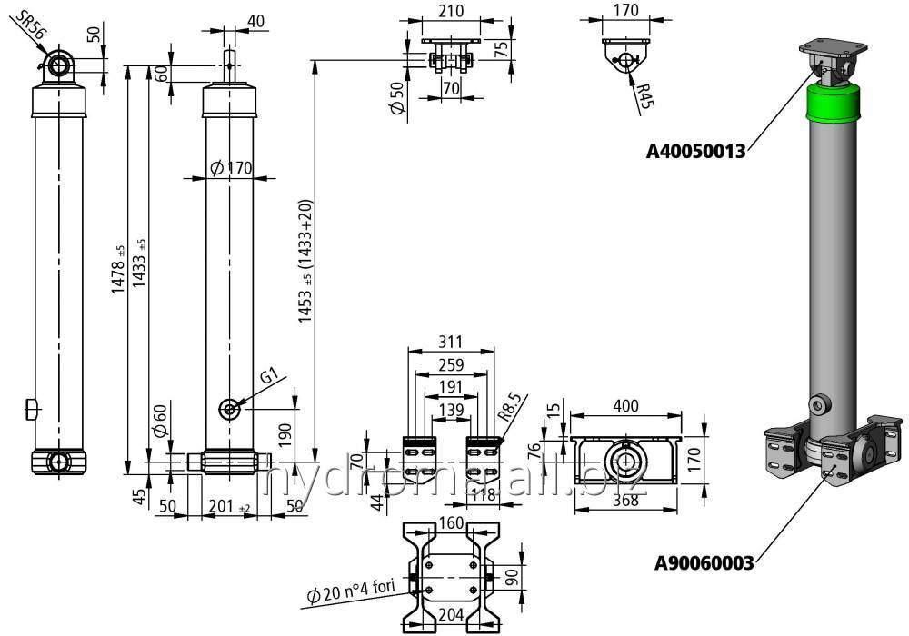 Купить Гидроцилиндр телескопический Penta/HF4650/149 4/468048/4113601494010