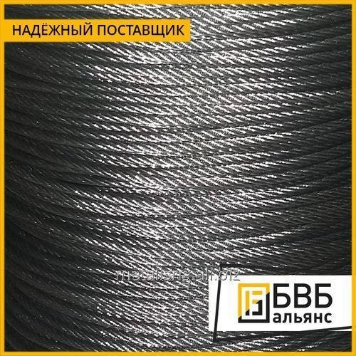 Купить Трос стальной 3,9 мм ГОСТ 3070-88 двойной свивки типа ТК