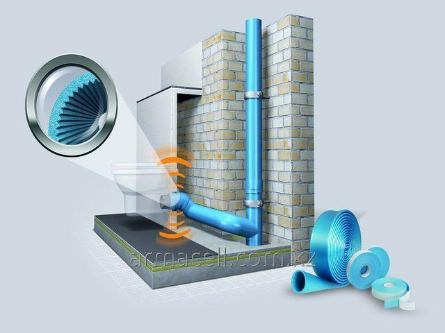 Noise-protective isolation for the sewer pipes Tubolit AR