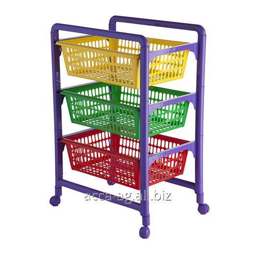 Купить Контейнер для игрушек с выдвижными лотками (на колесах) Артикул : 460