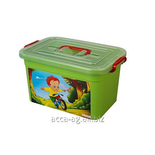 Купить Ящик детский Радуга 360х240х190 10л Артикул : 81001