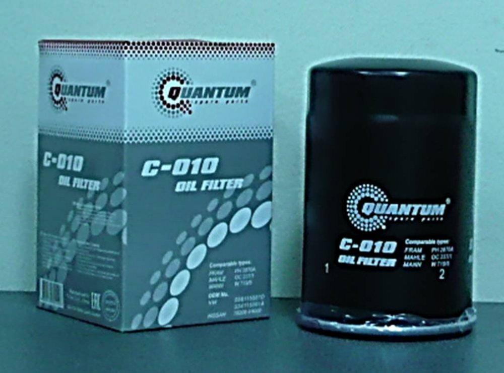 C-010 Масляный фильтр Quantum QC010