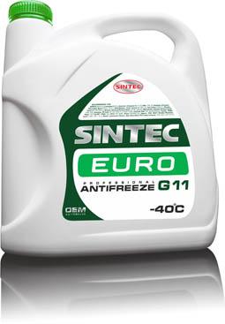 Sintec ANTIFREEZE EURO G11 10 кг, 5 кг, 1 кг