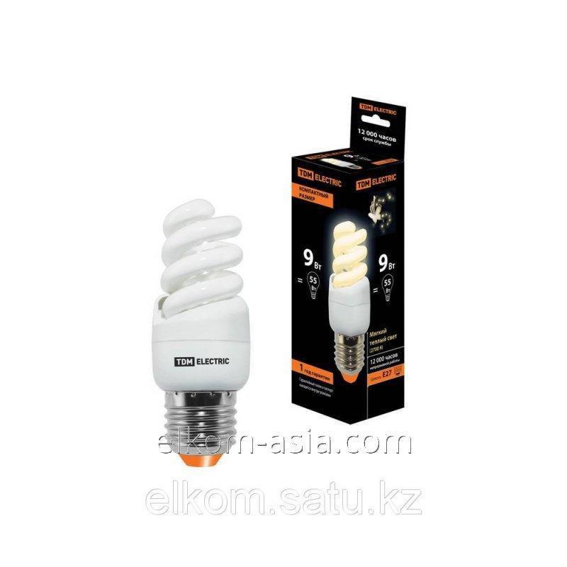 Купить Лампа энергосберегающая КЛЛ-FSТ2-9 Вт-2700 К–Е27 КОМПАКТ (35х95 мм) TDM