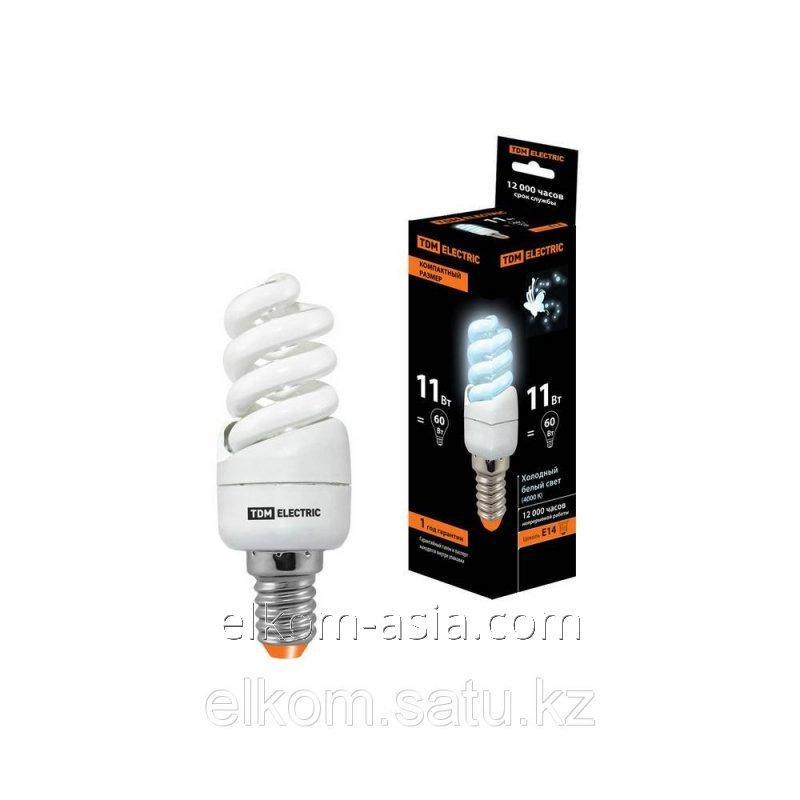 Купить Лампа энергосберегающая КЛЛ-FSТ2-11 Вт-4000 К-Е14 КОМПАКТ (35х98 мм) TDM