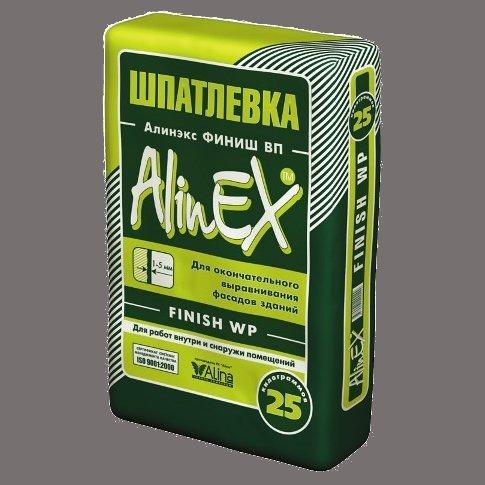 Шпатлевка цементная AlinEX Finish WP 25 кг