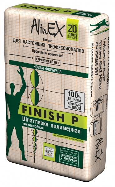 Шпатлевка полимерная AlinEX Finish 25 кг