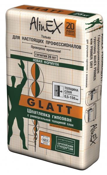 Шпатлевка гипсовая AlinEX Glatt 25 кг