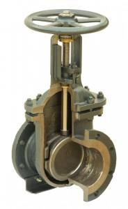 Задвижка 30Б2бк 15 Ру 25 кгс, бронзовая, муфтовая, t до 200 °С