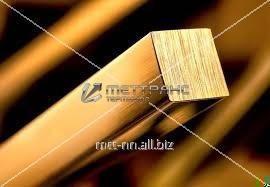 Купить Квадрат латунный 100 по ГОСТу 2060-2006, марка ЛЖС58-1-1, н.д., L = 3 м, L = 6 м