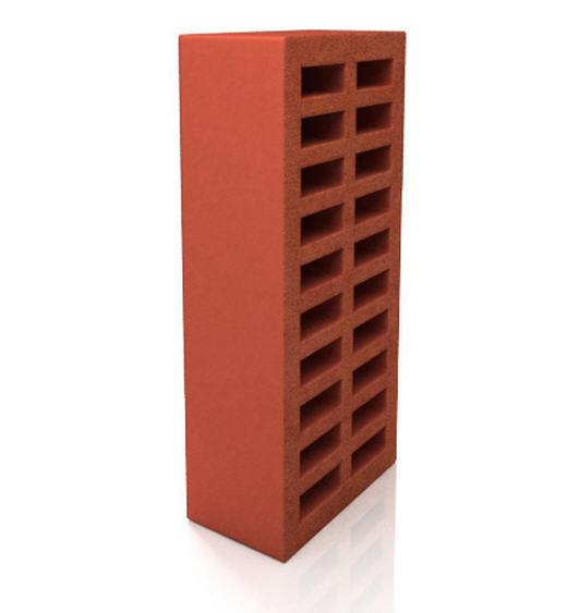 Кирпич облицовочный керамический, целый, коричневый