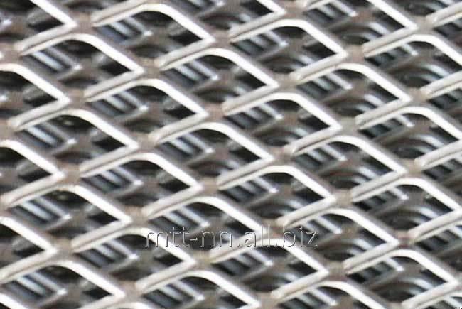 Buy Expanded metal sheet steel 4 406 3kp, 3SP, 3Ps, diamond scales, honeycomb