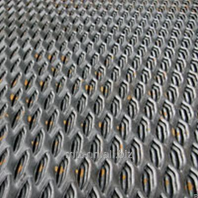 Buy Expanded metal sheet, steel 510 3kp, 3SP, 3Ps, diamond scales, honeycomb