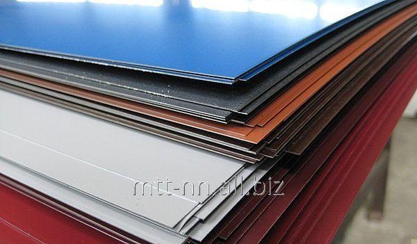 Купить Лист с полимерным покрытием 0,8 по ГОСТу 30246-94, Р 52146-2003, 14918-80, лист