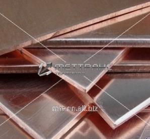 Полоса бронзовая 1 по ГОСТу 1595-90, 4748-92, марка БрАМц9-2