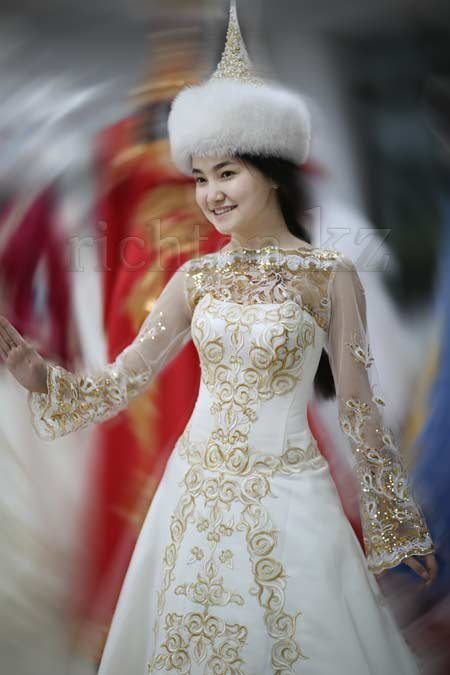 Казахское платье свадебное