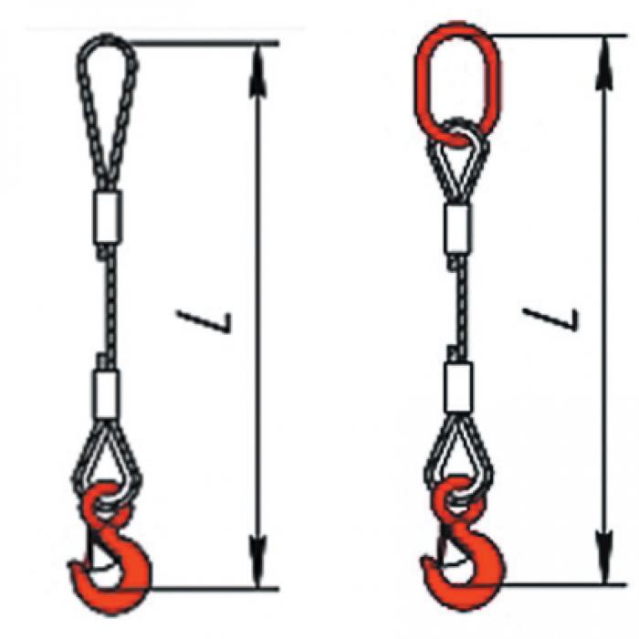 Купить Одноветвевой строп канатный (метод изготовления заплетка) 1СКзп 10 м,Г/П 3,2 ТН