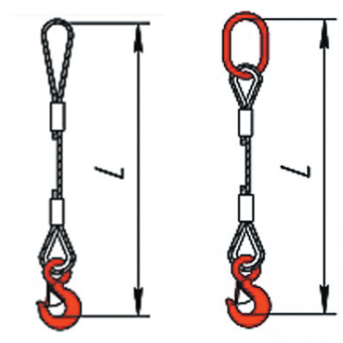 Купить Одноветвевой строп канатный (метод изготовления заплетка) 1СКзп 10 м,Г/П 10 ТН