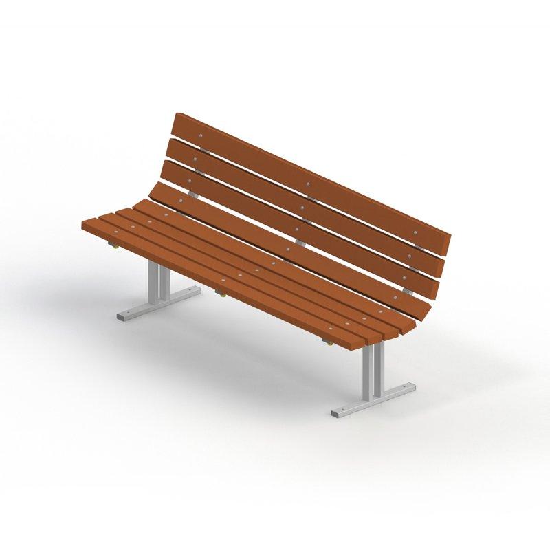 Диван садово-парковый на металлических ножках 2201