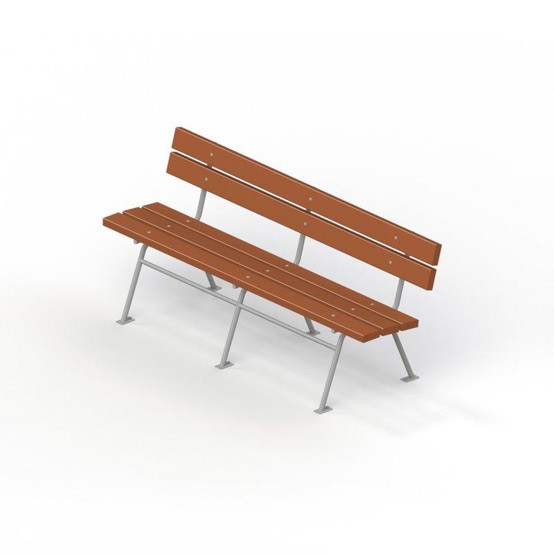 Диван садово-парковый на металлических ножках 2211
