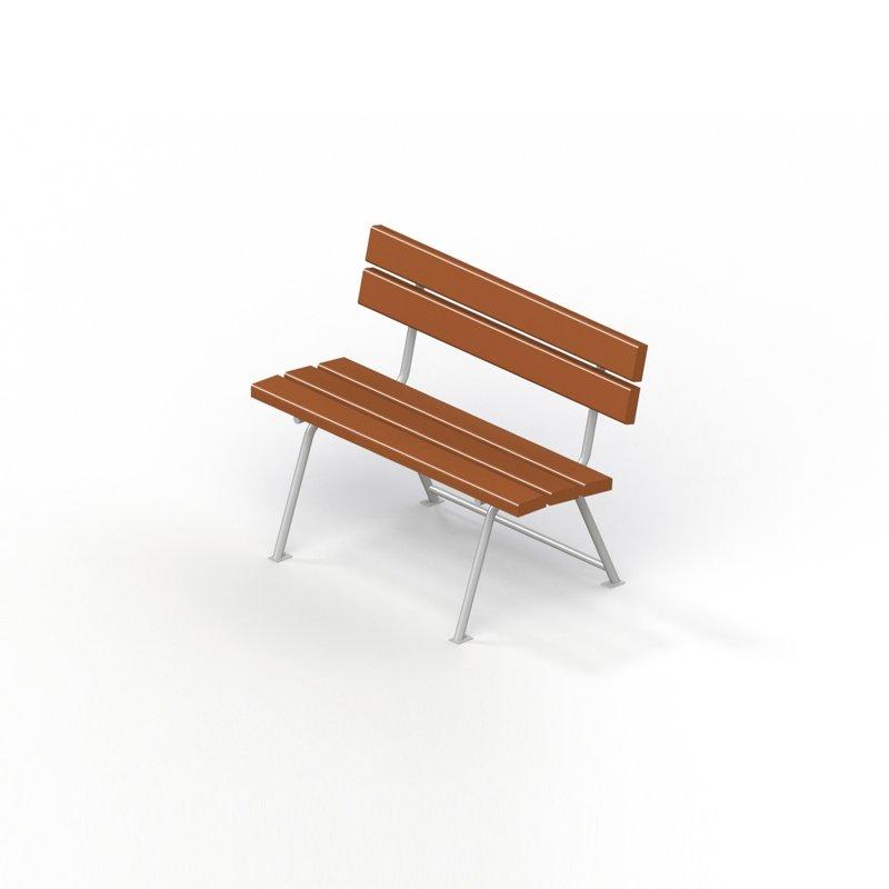 Диван садово-парковый на металлических ножках 2213