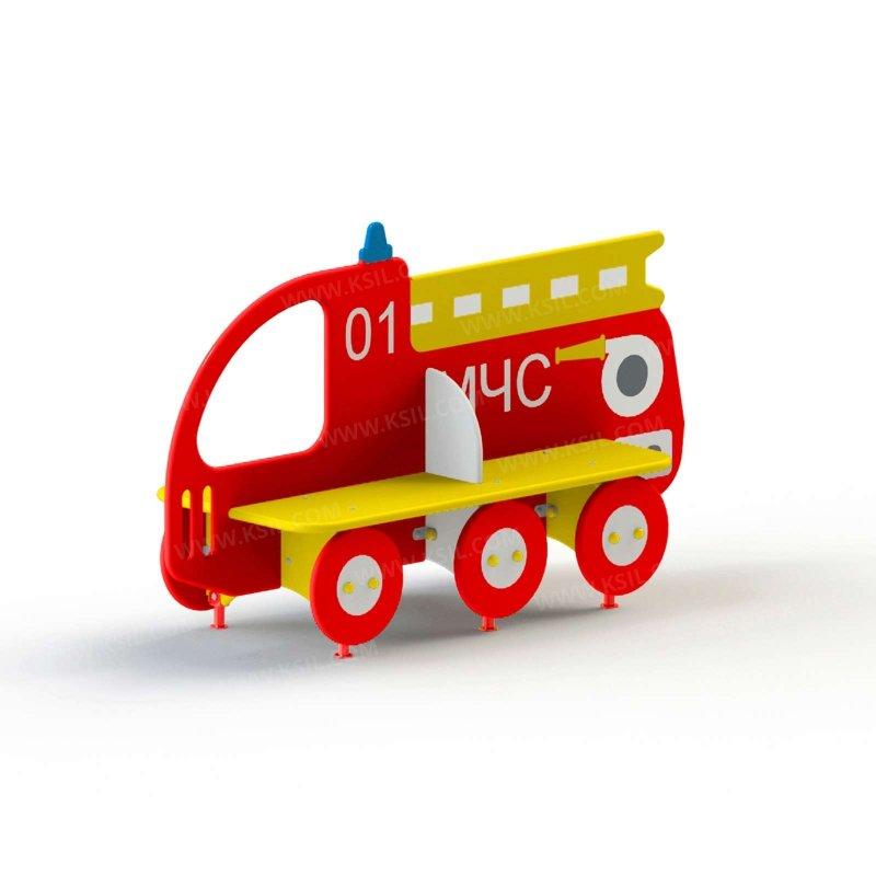 Скамейка детская Пожарная машина МЧС 2411