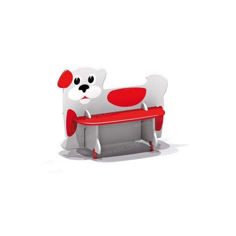 Скамейка детская Собачка 2412