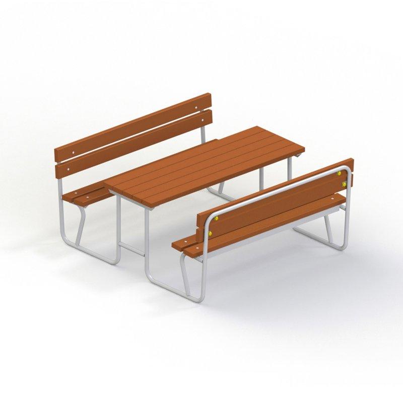 Стол со скамьями без навеса 2605