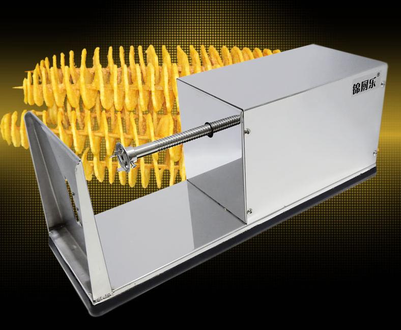 El aparato para el corte de las patatas por la espiral