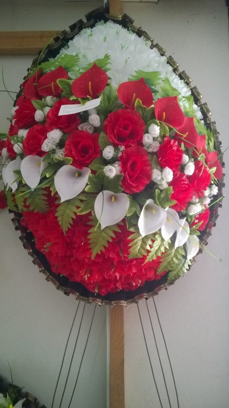 Buy Funeral wreath of artificial flowers model 31