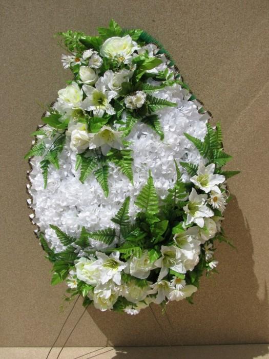 Buy Funeral wreath of artificial flowers model 36