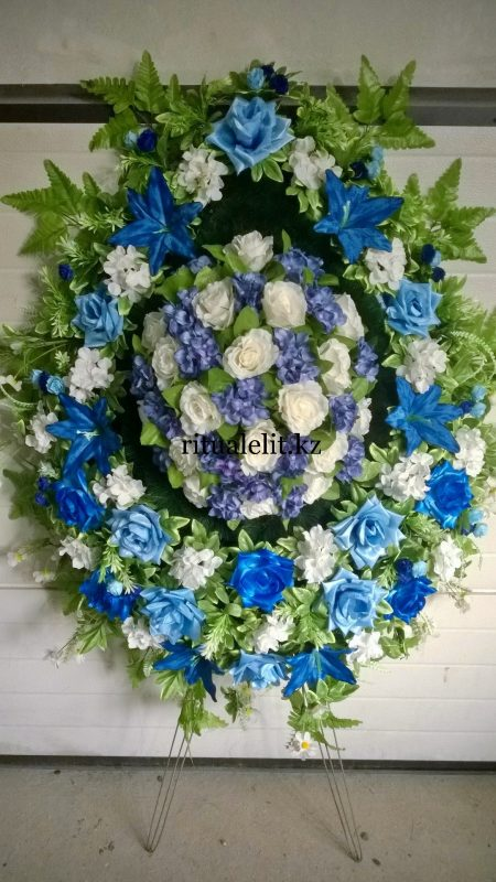 Buy Funeral wreath of artificial flowers model 37
