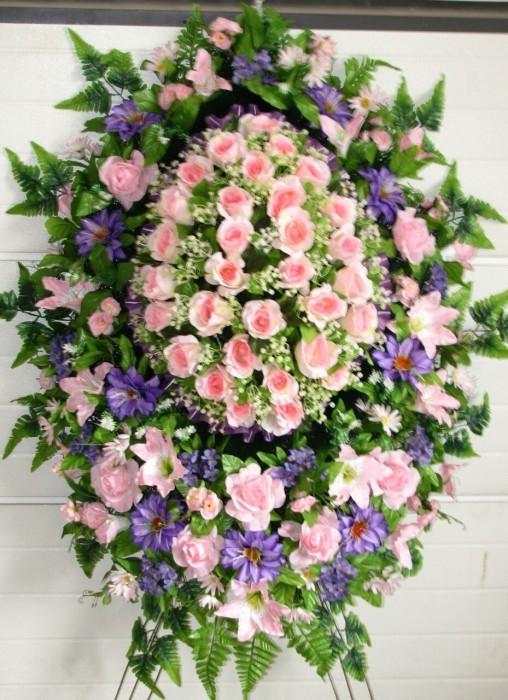 Buy Funeral wreath of artificial flowers model 38