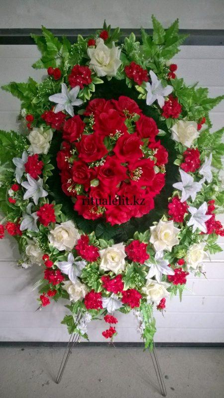 Buy Funeral wreath of artificial flowers model 42