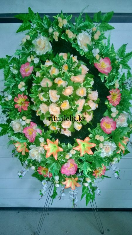 Buy Funeral wreath of artificial flowers model 43