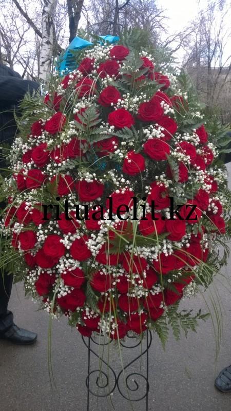Buy Funeral wreath of flowers model 5