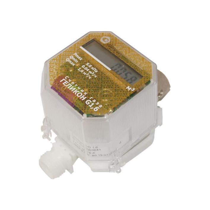 Счетчик газа Геликон G 1,6 Qmax 1,6 м3/ч