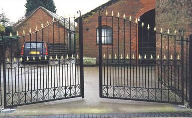 Ворота из железа
