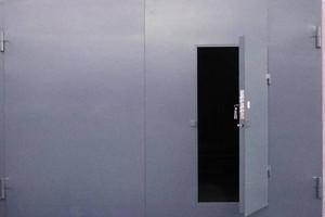 Гаражные ворота из металла
