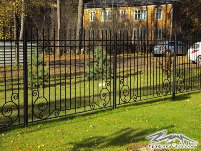 Забор и ворота из металла