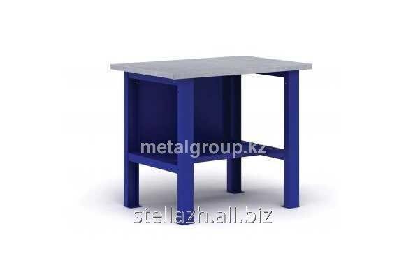 Металлический верстак с подвесной тумбой ВП-1