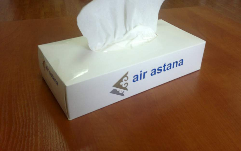 Купить Бумажные салфетки в коробочке с логотипом самовытягивающиеся, белые, двухслойные, 100 листов
