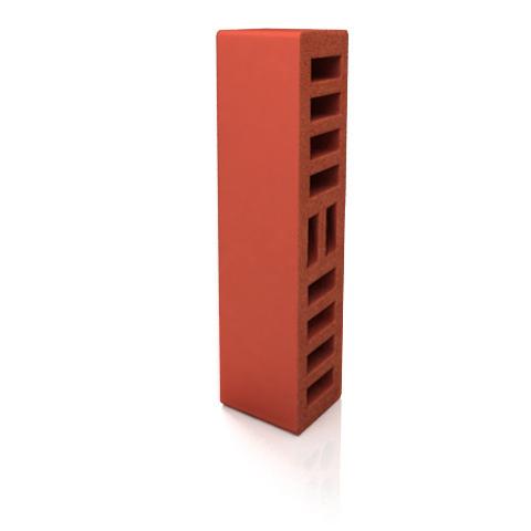 Кирпич керамический облицовочный, половинка, красный