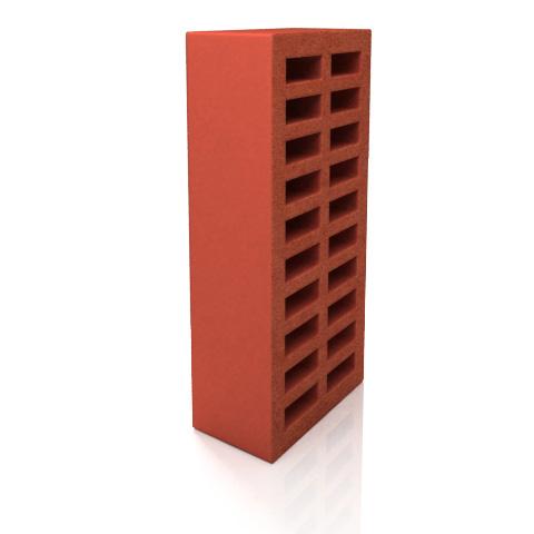 Керамический кирпич облицовочный, целый, красный