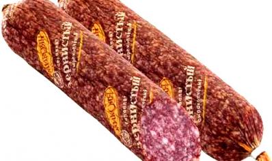 Купить Колбаса сервелат Зернистый сырокопченая, первый сорт
